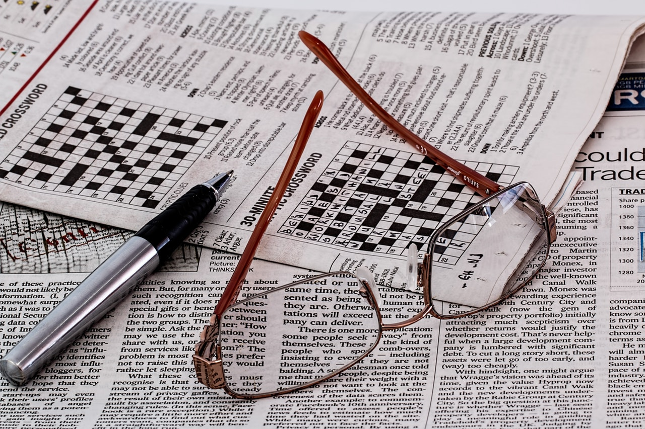 crossword puzzle used for vocabulary development