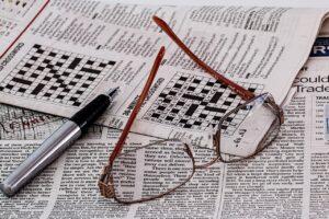 crossword puzzle used for vocabulary development